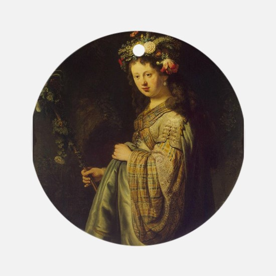 Saskia as Flora Ornament (Round)