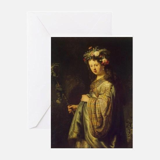 Saskia as Flora Greeting Card