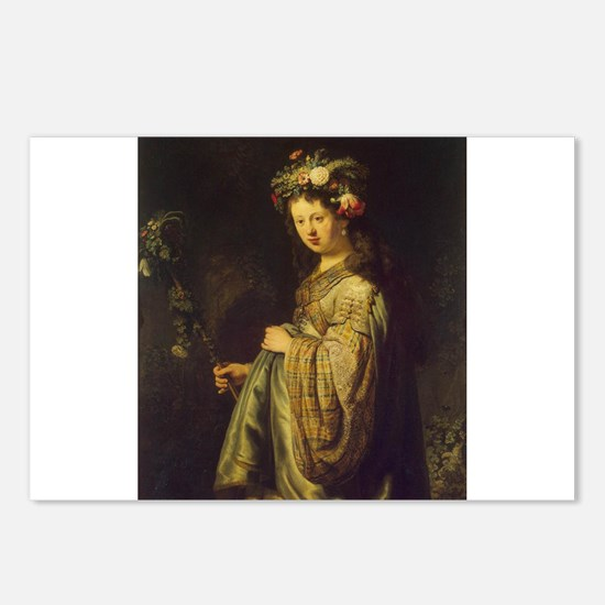 Saskia as Flora Postcards (Package of 8)
