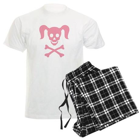 Curly Girlie Skull Men's Light Pajamas