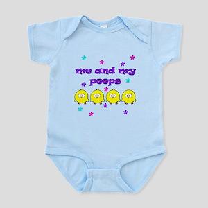 NME AND MY PEEPS - L PURPLE Infant Bodysuit