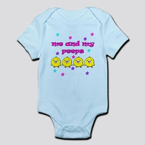 ME AND MY PEEPS - L PINK Infant Bodysuit