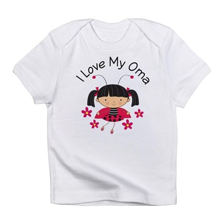 I Love My Oma Ladybug Infant T-Shirt