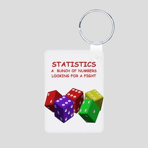 statistics joke Aluminum Photo Keychain