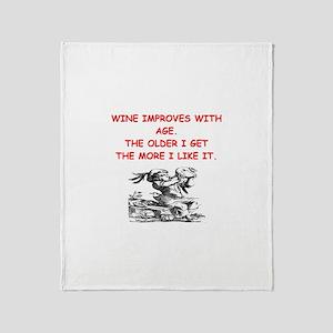 wine tasting Throw Blanket