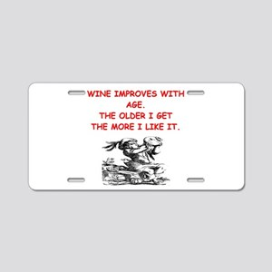 wine tasting Aluminum License Plate