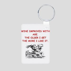 wine tasting Aluminum Photo Keychain