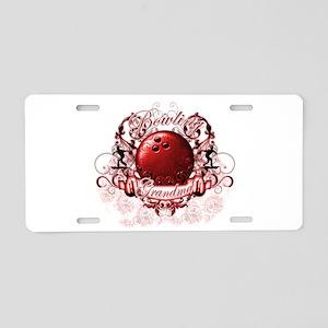 Bowling Grandma (Red) Aluminum License Plate