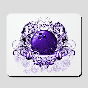 Bowling Grandma (Purple) Mousepad