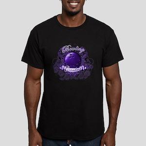 Bowling Grandma (Purple) Men's Fitted T-Shirt (dar