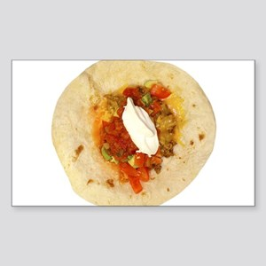 I Love Mexican Food Sticker (Rectangle)