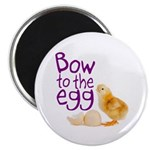 Bow to the Egg Magnet