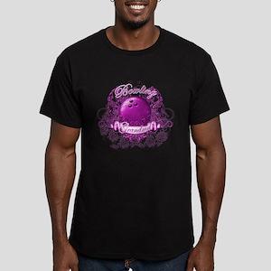 Bowling Grandma (Pink) Men's Fitted T-Shirt (dark)