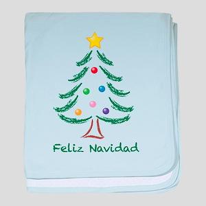 Feliz Navidad Tree baby blanket