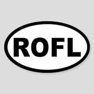 ROFL OVAL STICKERS Oval Sticker