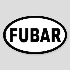 FUBAR OVAL STICKERS Oval Sticker
