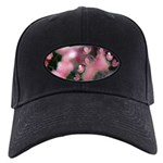 Cherry Blossoms Black Cap with Patch