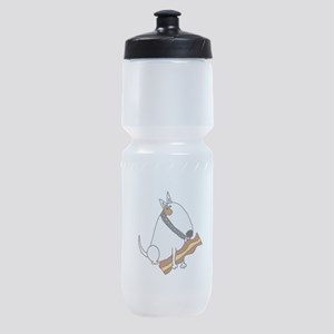 Bull Terrier with Bacon Sports Bottle