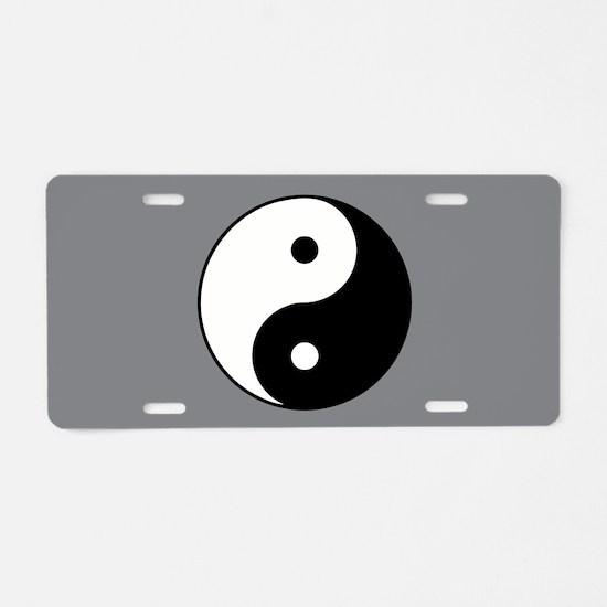 Yin Yang Aluminum License Plate