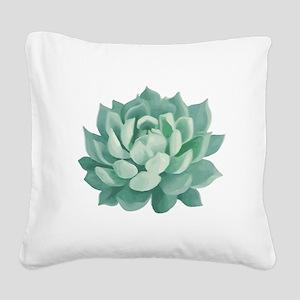 Succulent Beautiful Green Cactus Square Canvas Pil