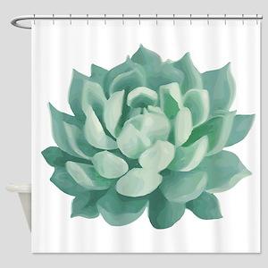 Succulent Beautiful Green Cactus Shower Curtain