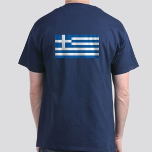 Greek Flag Dark T-Shirt