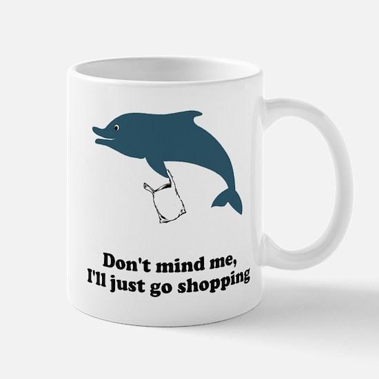 Dolphins Plastic Bags Shirt F Mug