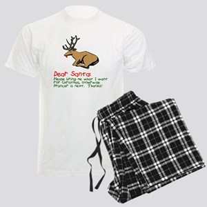Dear Santa Shot Reindeer Pran Men's Light Pajamas