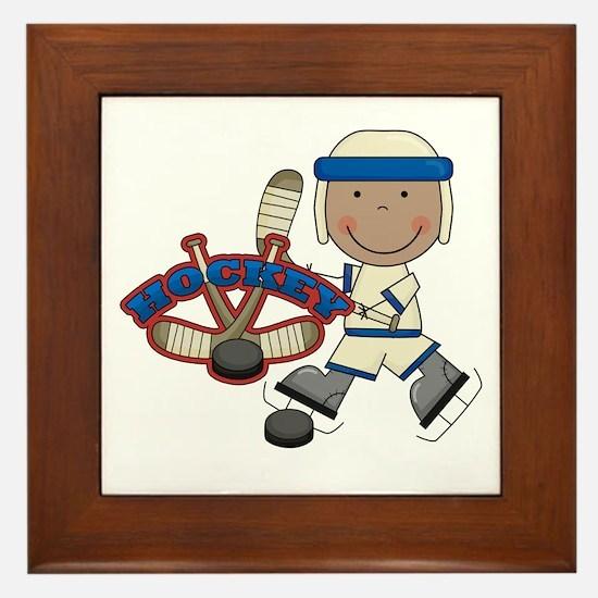 AA Boy Hockey Player Framed Tile