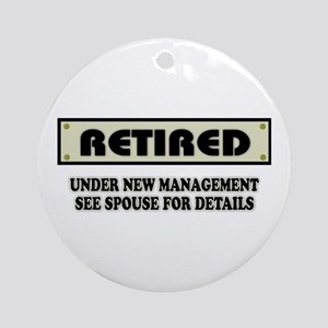 Funny Retirement Gift, Retired, Und Round Ornament