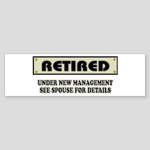 Funny Retirement Gift, Retired, U Sticker (Bumper)