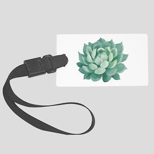 Succulent Beautiful Green Cactus Luggage Tag