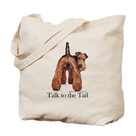 Airedale Terrier Talk Tote Bag