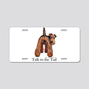 Airedale Terrier Talk Aluminum License Plate