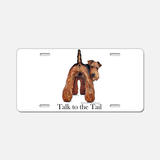 Airedale Terrier Talk Aluminum License Plate