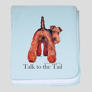 Airedale Terrier Talk baby blanket