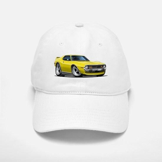 1971-74 Javelin Yellow Car Baseball Baseball Cap