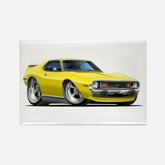 1971-74 Javelin Yellow Car Rectangle Magnet