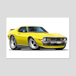 1971-74 Javelin Yellow Car Mini Poster Print