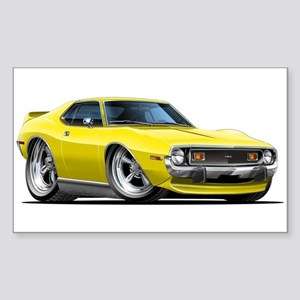 1971-74 Javelin Yellow Car Sticker (Rectangle)