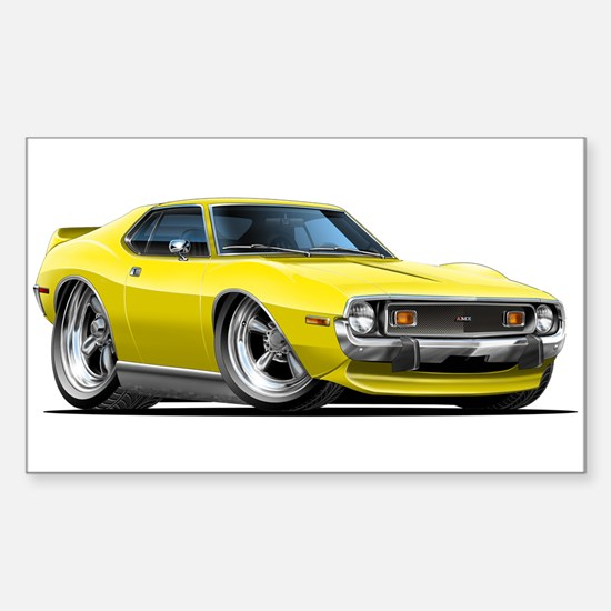 1971-74 Javelin Yellow Car Sticker (Rectangle)