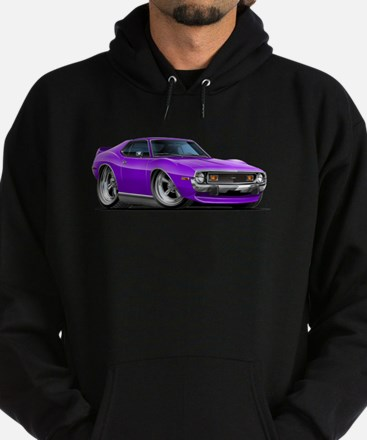 1971-74 Javelin Purple Car Hoodie (dark)