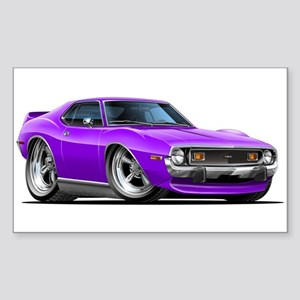 1971-74 Javelin Purple Car Sticker (Rectangle)