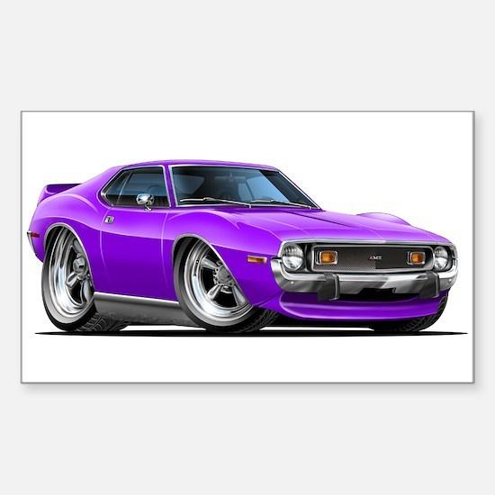 1971-74 Javelin Purple Car Sticker (Rectangle)