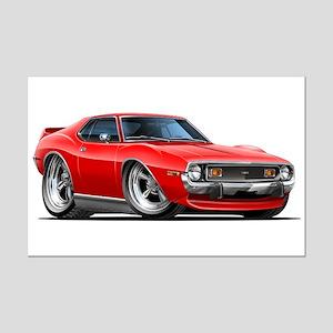 1971-74 Javelin Red Car Mini Poster Print