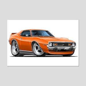 1971-74 Javelin Orange Car Mini Poster Print