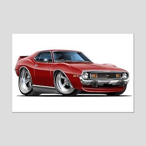 1971-74 Javelin Maroon Car Mini Poster Print