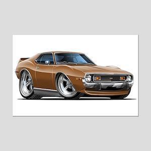 1971-74 Javelin Brown Car Mini Poster Print