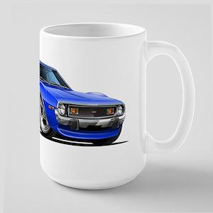 1971-74 Javelin Blue Car Large Mug