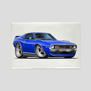 1971-74 Javelin Blue Car Rectangle Magnet
